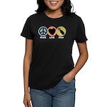 Peace Love Pish Women's Dark T-Shirt