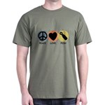 Peace Love Pish Dark T-Shirt