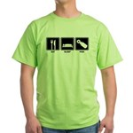 Eat Sleep Pish Green T-Shirt