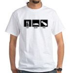 Eat Sleep Pish White T-Shirt