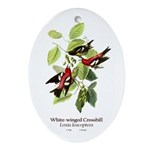White-winged Crossbill Ornament (Oval)