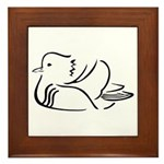 Stylized Mandarin Duck Framed Tile