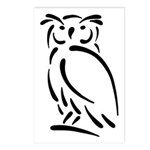 Stylized Owl Postcards (Package of 8)