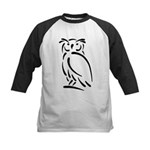 Stylized Owl Kids Baseball Jersey