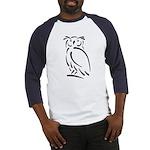Stylized Owl Baseball Jersey