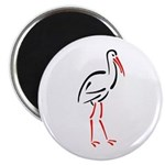 Stylized Stork Magnet