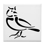 Stylized Lark Tile Coaster