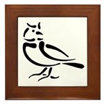 Stylized Lark Framed Tile