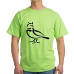 Stylized Lark Green T-Shirt