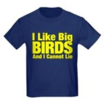 I Like Big BIRDS Kids Dark T-Shirt