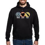 Peace Love Pish Hoodie (dark)