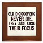 Old Digiscopers Never Die Framed Tile
