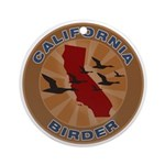 California Birder Ornament (Round)