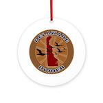 Delaware Birder Ornament (Round)