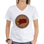 Connecticut Birder Women's V-Neck T-Shirt