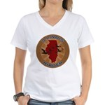 Illinois Birder Women's V-Neck T-Shirt