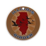 Illinois Birder Ornament (Round)