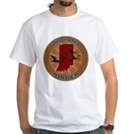 Indiana Birder White T-Shirt