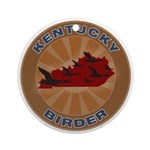 Kentucky Birder Ornament (Round)