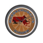 Massachusetts Birder Wall Clock