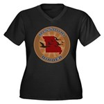 Missouri Birder Women's Plus Size V-Neck Dark T-Sh