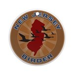 New Jersey Birder Ornament (Round)