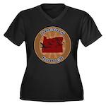 Oregon Birder Women's Plus Size V-Neck Dark T-Shir