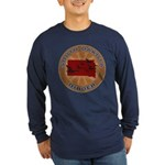 South Dakota Birder Long Sleeve Dark T-Shirt