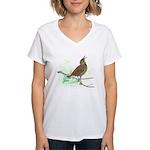 Fuertes' Meadowlark Women's V-Neck T-Shirt