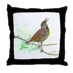 Fuertes' Meadowlark Throw Pillow