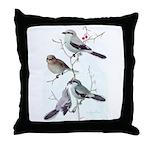 Fuertes' Shrikes Throw Pillow