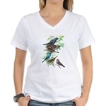 Grosbeaks & Buntings Women's V-Neck T-Shirt