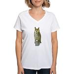 Fuertes' Great Horned Owl Women's V-Neck T-Shirt