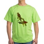 Red-shouldered Hawk Green T-Shirt