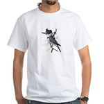 Fuertes' Kingfisher White T-Shirt