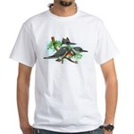 Belted Kingfisher White T-Shirt
