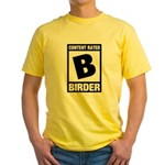 Rated B: Birder Yellow T-Shirt