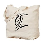Stylized Kingfisher Tote Bag