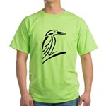 Stylized Kingfisher Green T-Shirt