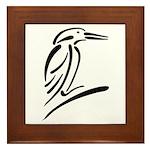 Stylized Kingfisher Framed Tile