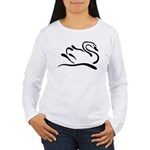 Stylized Swan Women's Long Sleeve T-Shirt