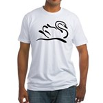 Stylized Swan Fitted T-Shirt