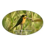 Little Bee-eater Oval Sticker