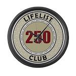 Lifelist Club - 250 Large Wall Clock