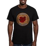 Ohio Birder Men's Fitted T-Shirt (dark)