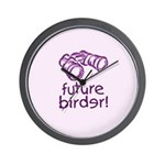 Future Birder Wall Clock