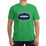 Birder: Out-Twitch... Men's Fitted T-Shirt (dark)
