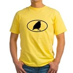 Warbler Oval Yellow T-Shirt