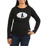 Pelican Oval Women's Long Sleeve Dark T-Shirt