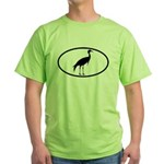 Crane Oval Green T-Shirt